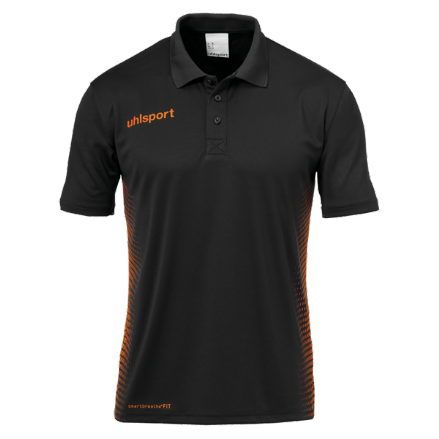 Score Polo Shirt Black / Fluo Orange